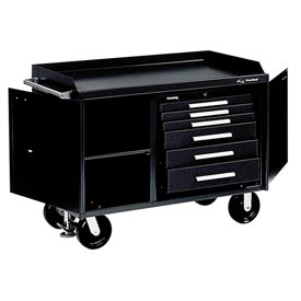 "Kennedy® 4806BK 48"" 6-Drawer Industrial Mobile Bench - Black"