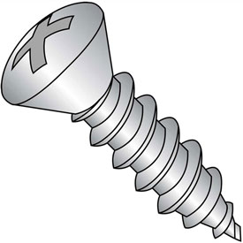 #4 x 1/2 Phillips Oval Self Tapping Screw Type AB Fully Threaded 18-8 Stainless - Pkg of 5000