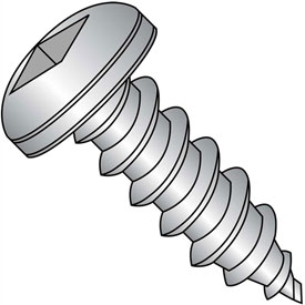 #8 x 3/8 Square Pan Self Tapping Screw Type AB Fully Threaded 18-8 Stainless Steel - Pkg of 5000