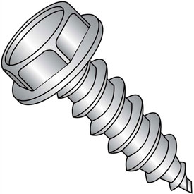 #8 x 1/2 Unslotted Indented Hex Washer Self Tapping Screw Type A FT 18-8 SS - Pkg of 5000