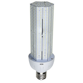 Kobi Electric K3N5 60-watt (200-Watt HID) 120-277v Corn Light LED 6000K Cool White, Non-Dimmable