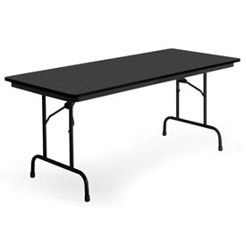 "KI Folding Table - Laminate - 30""W x 72""L - Graphite Nebula - Premier Series"
