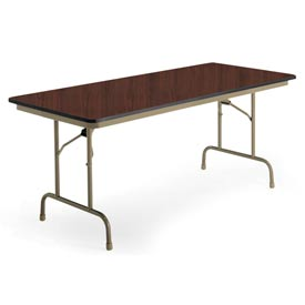 "KI Folding Table - Laminate - 24""Wx72""L - Brighton Walnut - Heritage Series"