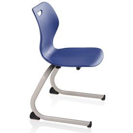 Intellect Wave Cantilever Chair - Starlight Silver frame and Splash shell