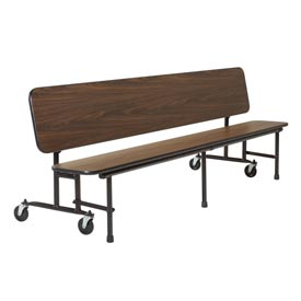 8 foot Convertible Uniframe Bench - Brighton Walnut