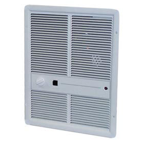 TPI Fan Forced Wall Heaters With Summer Fan Switch F3316T2SRP - 4000W 208V Ivory