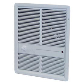 TPI Fan Forced Wall Heater F3317T2RPW - 4800W 208V White