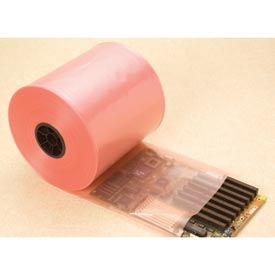 "Anime-Free Anti-Static Poly Tubing, 16""W x 750'L 4 Mil Pink, 1 Roll"