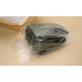 "Gusseted Poly Bags, 10"" x 8"" x 24"" 3 Mil Clear, 500/CASE"