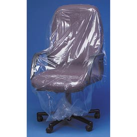 "Clear Furniture Bags 56"" Chair, 90X45, 165 per Roll, Clear"