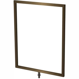 "Tensator Statuary Bronze 11""x14"" Light Duty Classic Sign Frame"