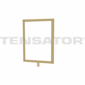 "Tensator Polished Brass 7""x11"" Light Duty Classic Sign Frame"