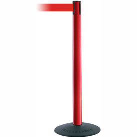 "Tensabarrier Popular 38""H Red Post 7.5'L Red Retractable Belt"