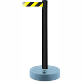 Tensabarrier Black Outdoor Post 7.5'L Black/Yellow Chevron Retractable Belt Barrier