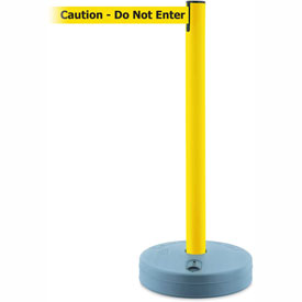 Tensabarrier Yellow Outdoor Post 7.5'L BLK/YLW Caution-Do Not Enter Retractable Belt Barrier