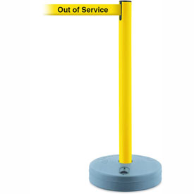 Tensabarrier Yellow Outdoor Post 7.5'L BLK/YLW Out of Service Retractable Belt Barrier