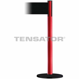 Tensabarrier Red Plus Advance 7.5'L Black Retractable Belt Barrier
