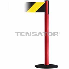 Tensabarrier Blue Plus Advance 7.5'L Black/Yellow Chevron Retractable Belt Barrier