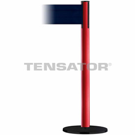 Tensabarrier Red Plus Advance 7.5'L Dark Blue Retractable Belt Barrier