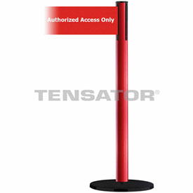 Tensabarrier Red Plus Advance 7.5'L Red/White Authorized Access