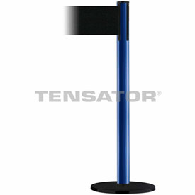 Tensabarrier Blue Plus Advance 7.5'L Black Retractable Belt Barrier
