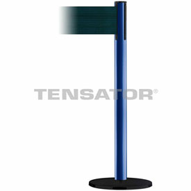 Tensabarrier Blue Plus Advance 7.5'L Dark Green Chevron Retractable Belt Barrier
