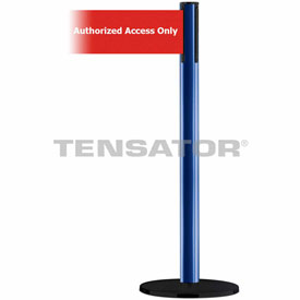 Tensabarrier Blue Plus Advance 7.5'L Red/White Authorized Access Only Retractable Belt Barrier