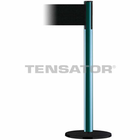 Tensabarrier Green Plus Advance 7.5'L Black Retractable Belt Barrier
