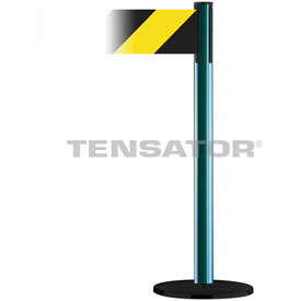 Tensabarrier Green Plus Advance 7.5'L Black/Yellow Chevron Retractable Belt Barrier