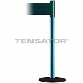 Tensabarrier Green Plus Advance 7.5'L Dark Green Retractable Belt Barrier