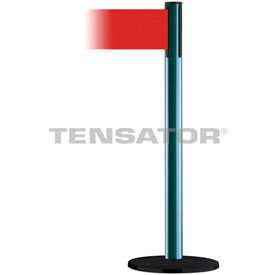 Tensabarrier Green Plus Advance 7.5'L Red Retractable Belt Barrier
