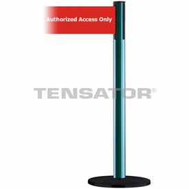 Tensabarrier Green Plus Advance 7.5'L Red/White Authorized Access Only Retractable Belt Barrier