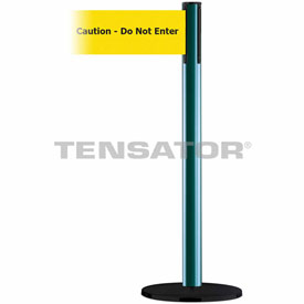 Tensabarrier Green Plus Advance 7.5'L BLK/YLW Caution-Do Not Enter Retractable Belt Barrier