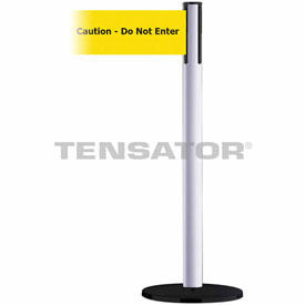 Tensabarrier White Plus Advance 7.5'L BLK/YLW Caution-Do Not Enter Retractable Belt Barrier