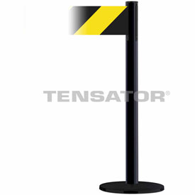 Tensabarrier Black Plus Advance 7.5'L Black/Yellow Chevron Retractable Belt Barrier