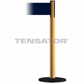 Tensabarrier Yellow Plus Advance 7.5'L Dark Blue Retractable Belt Barrier