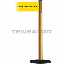 Tensabarrier Yellow Plus Advance 7.5'L BLK/YLW Caution-Do Not Enter Retractable Belt Barrier