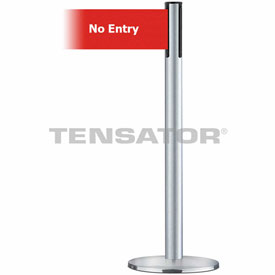 Tensabarrier Satin Chr Plus Adv Univ 7.5'L Red/Wht No Entry Retractable Belt Barrier