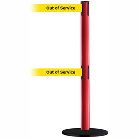 Tensabarrier Red Advance Dual Line 7.5'L BLK/YLW Out of Service Retractable Belt Barrier