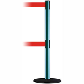 Tensabarrier Green Advance Dual Line 7.5'L Red Retractable Belt Barrier