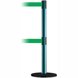 Tensabarrier Green Advance Dual Line 7.5'L Green Retractable Belt Barrier