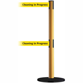 Tensabarrier Yellow Advance Dual Line 7.5'L BLK/YLW Cleaning in Progress Retractable Belt Barrier