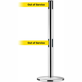 Tensabarrier Pol Chr Adv Univ Dual Line 7.5'L BLK/YLW Out of Service Retractable Belt Barrier