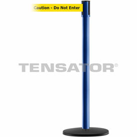 Tensabarrier Blue Slimline 7.5'L BLK/YLW Caution-Do Not Enter Retractable Belt Barrier