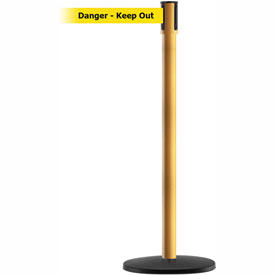 Tensabarrier Yellow Slimline 7.5'L BLK/YLW Danger-Keep Out Retractable Belt Barrier