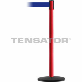 Tensabarrier Red Slimline 7.5'L Blue Retractable Belt Barrier