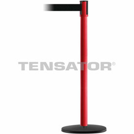 Tensabarrier Red Slimline 7.5'L Black Retractable Belt Barrier