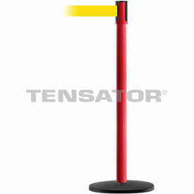 Tensabarrier Red Slimline 7.5'L Yellow Retractable Belt Barrier