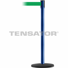 Tensabarrier Blue Slimline 7.5'L BLK/YLW Out of Service Retractable Belt Barrier