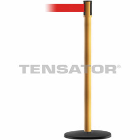 Tensabarrier Yellow Slimline 7.5'L Red Retractable Belt Barrier